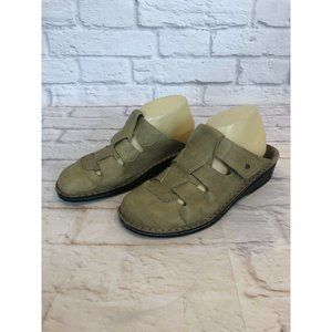 FINN Comfort Size 41 / 10-10.5 Leather Caged Mules